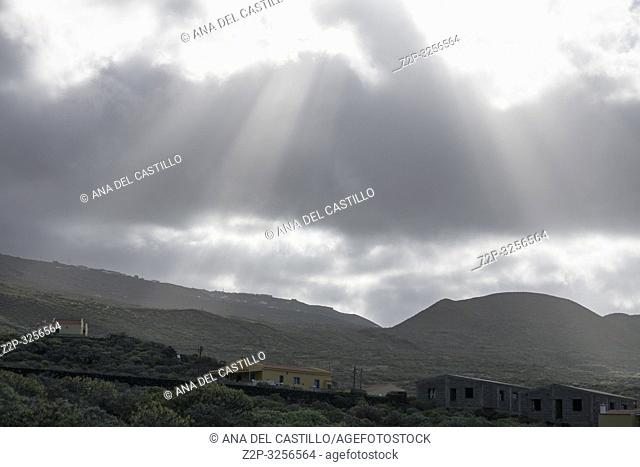 Landscape El Hierro island Canary islands Spain