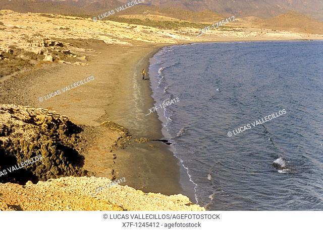 `Ensenada de los Genoveses' cove Cabo de Gata-Nijar Natural Park  Biosphere Reserve, Almeria province, Andalucia, Spain