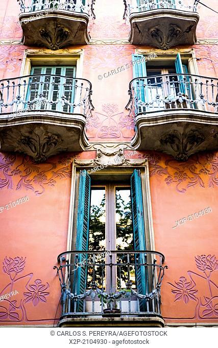 Modernism architecture in Poblenou, Barcelona, Catalonia, Spain