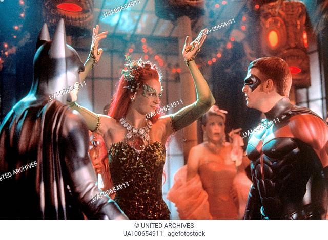BATMAN & ROBIN / Batman & Robin USA 1997 / Joel Schumacher GEORGE CLOONEY (Batman), UMA THURMAN (Poison Ivy), CHRIS O'DONNELL (Robin), 'Batman & Robin', 1997