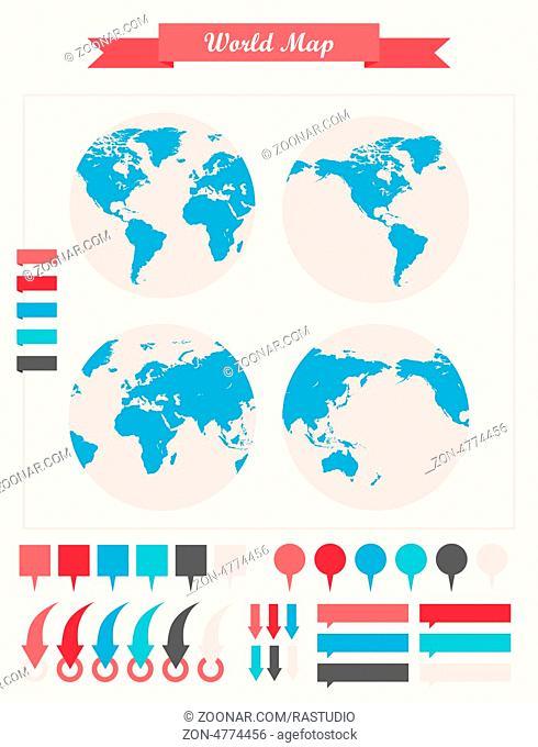Infographic Elements. Globe. Vector Illustration EPS 10