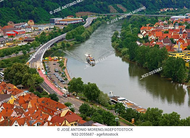 Wertheim, Main River, Main-Tauber, Romantische Strasse (Romantic Road), Baden-Württemberg, Germany