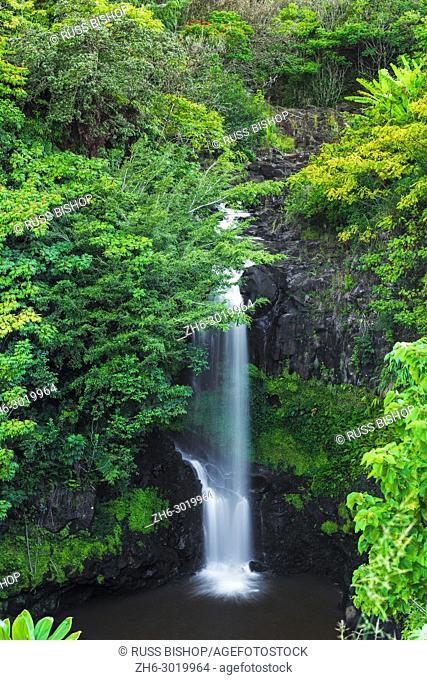 Waterfall on the Hamakua Coast, The Big Island, Hawaii USA