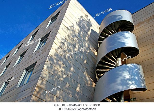 spiral staircase, hotel Novotel, Cornella de Llobregat, Catalonia, Spain