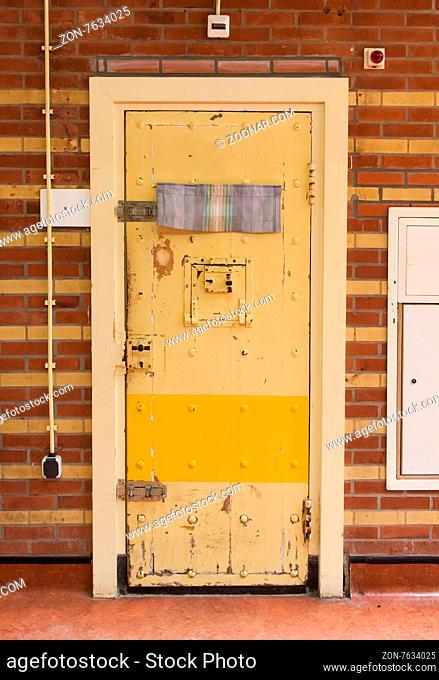 Very old prison door, prison in the Netherlands