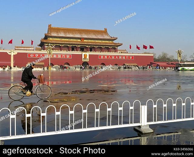Tiananmen Gate of The Forbidden City. . Tiananmen Square. Beijing. China