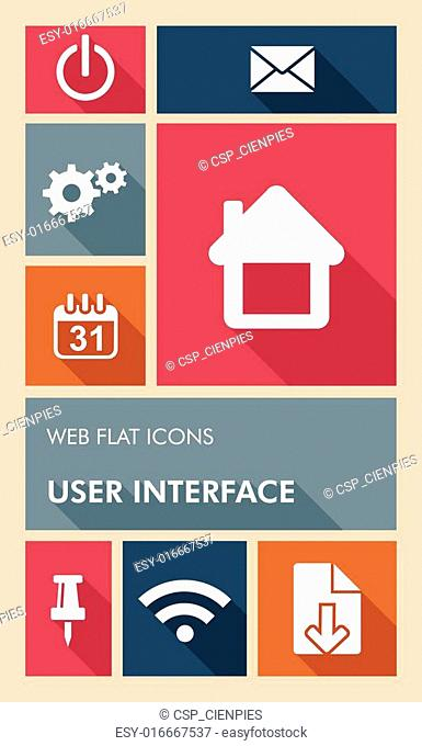 Colorful UI web apps user interface flat icons