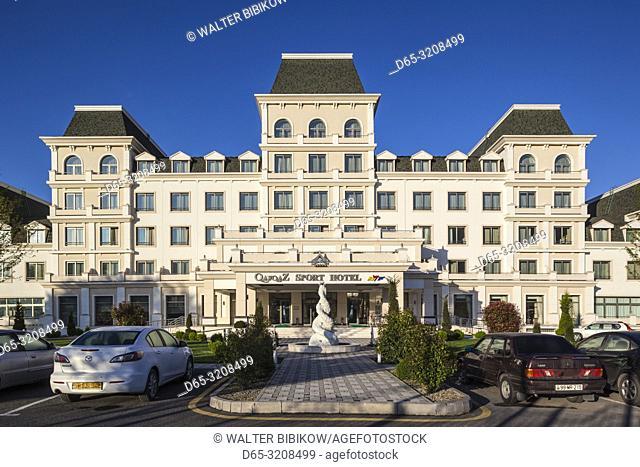 Azerbaijan, Qabala, Gabala, Qafqaz Sport Hotel, dawn