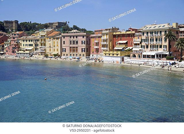 Baia del silenzio bay, Sestri Levante, Ligury, Italy