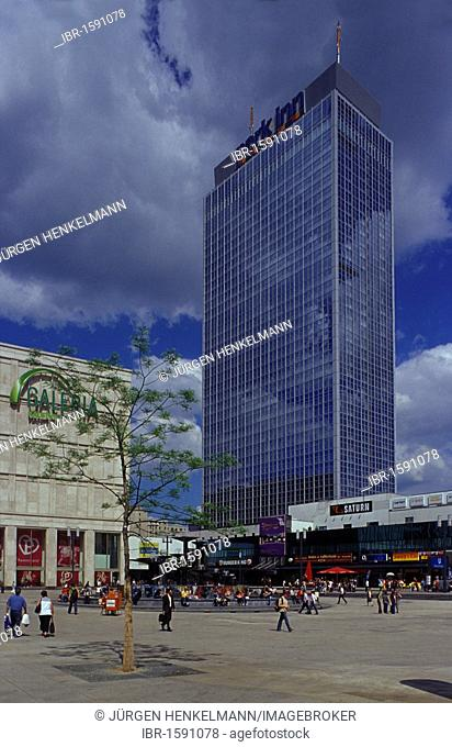 Alexanderplatz square, Park Inn Hotel, Galeria Kaufhof mall, Mitte district, Berlin, Germany, Europe