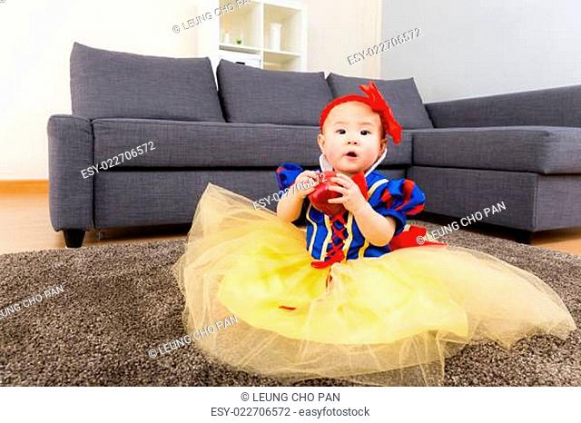 Baby with halloween party dressing