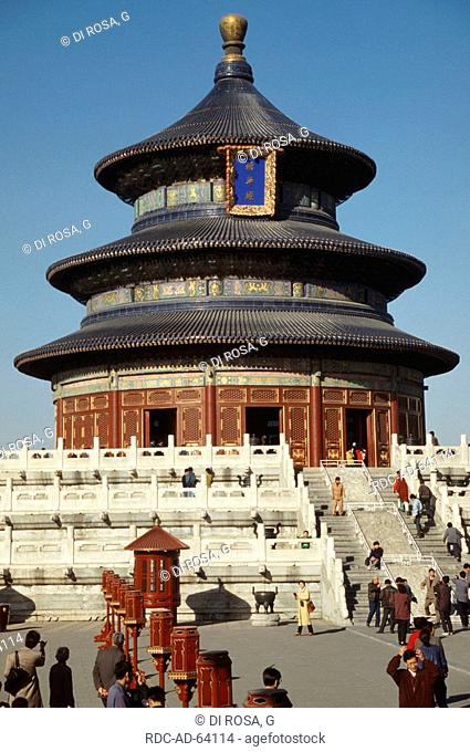 Temple of Heaven in Forbidden City Peking China emperor palace