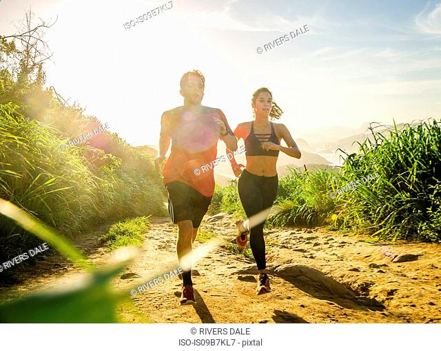 Runners training, Rio de Janeiro, Brazil