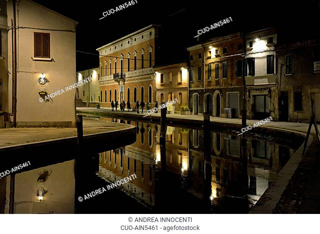 Comacchio, Night Landscape, Emilia Romagna, Italy, Europe