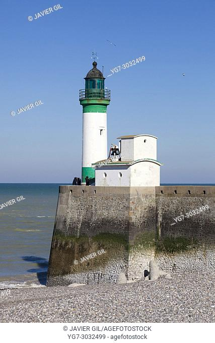 Lighthouse in Le Treport, Seine-Maritime, Normandy, France