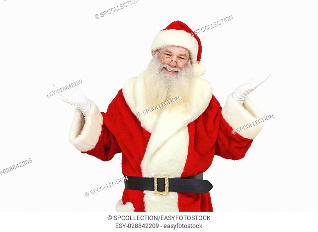 Santa Claus with real beard isolated