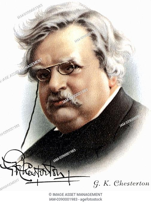 Gilbert Keith Chesterton 1874-1936 English novelist, poet and critic  Friend of Belloc  Roman Catholic convert  Creator of fictional detective Father Brown 1911...