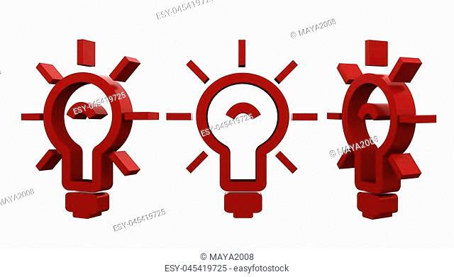 3d rendering illustration of the light