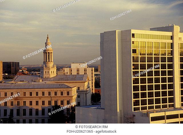 Denver, CO, Colorado, City Hall, downtown, skyline