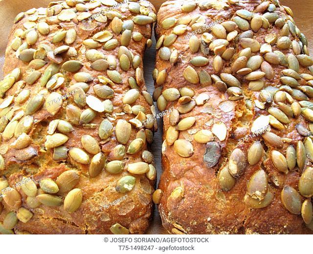 Pumpkin seed breads