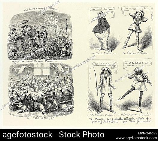 The Lord Mayors Show and the Lord Mayors Feast in Ireland from George Cruikshank's Steel Etchings to The Comic Almanacks: 1835-1853 (left) - 1850, printed c