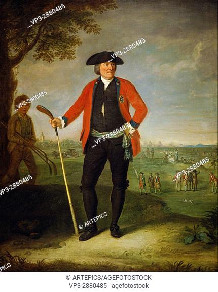 David Allan - William Inglis, c 1712 - 1792. Surgeon and Captain of the Honourable Company - National Galleries of Scotland