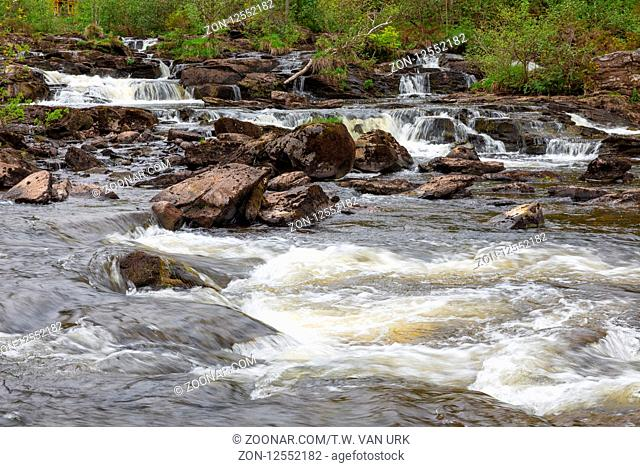 Falls of Dochart near Killin in Scottish highlands