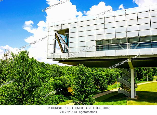 The William J. Clinton Presidential Center building and Park in Pulaski County, Little Rock, Arkinsas