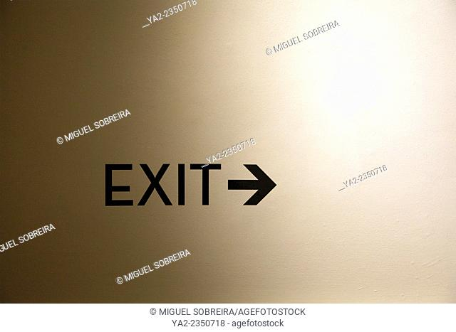 Exit Sticker Sign on Wall