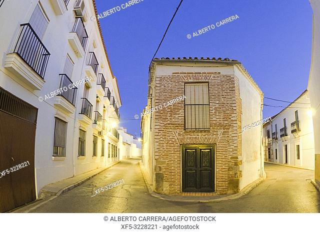 Typical Architecture, Street Scene, Old Town, Historical Center, Historic Artistic Ensemble, Llerena, Badajoz, Extremadura, Spain, Europe