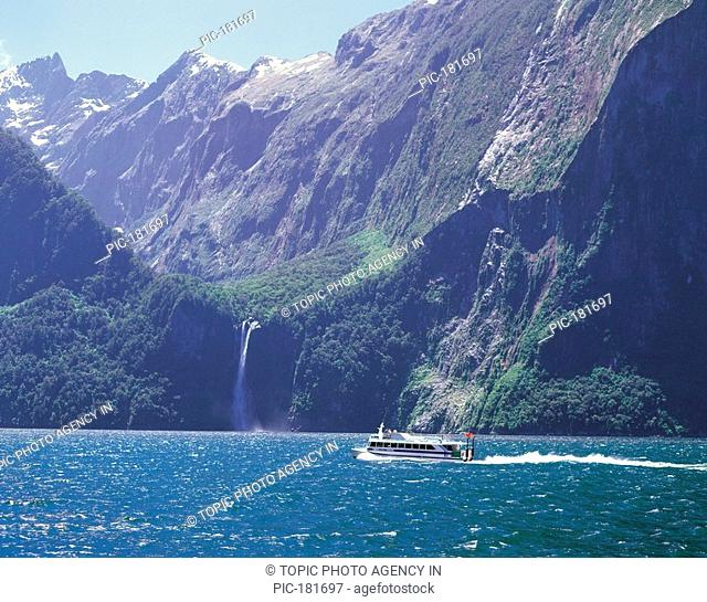 Excursion Boat,Milford Sound,New Zealand