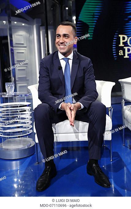 Italian politician Luigi di Maio during Porta a Porta tv show. Rome, May 23th, 2019