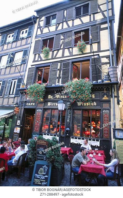Street scene. Strasbourg. Alsace. France