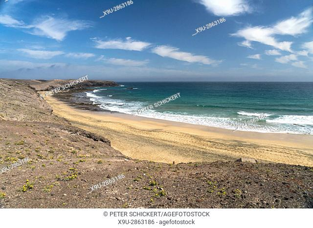 beach, Caleta del Congrio, Playas de Papagayo near Playa Blanca, Lanzarote, Canary Islands, Spain