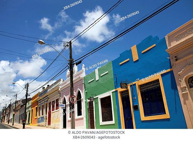 Street with colorful facades, Olinda, Pernambuco, Brazil