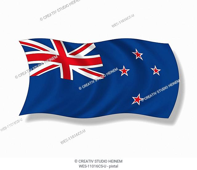 Illustration, New Zealand flag