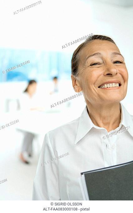 Senior businesswoman, smiling