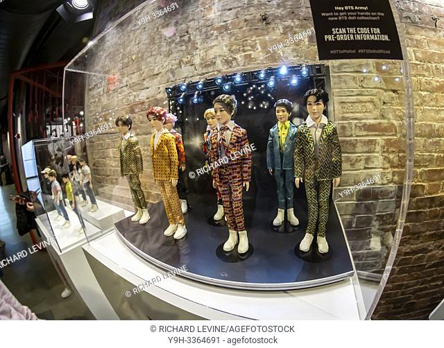 Fans of the Koran K-Pop band BTS shop for band â. œmerchâ. . at a pop-up shop in the Chelsea neighborhood of New York on Wednesday, May 15, 2019