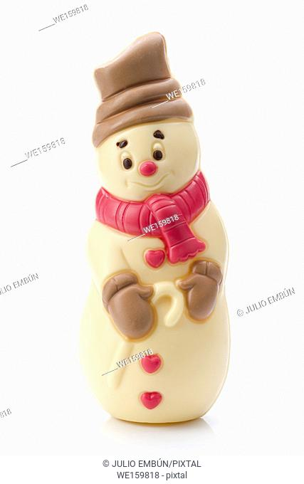 christmas figure of chocolate isolated on white