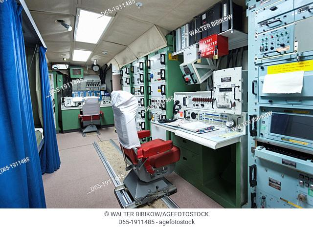 USA, South Dakota, Philip, Minuteman II ICBM missile underground launch control site Delta-01, nuclear missile launch console
