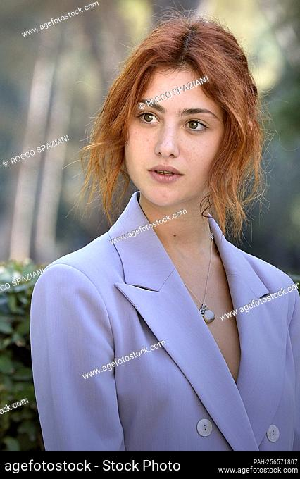 """ROME, ITALY - SEPTEMBER 14: Gaja Masciale attend the photocall of the movie """"""""Ancora più bello"""""""" on September 14, 2021 in Rome, Italy. - Roma/Italien"""