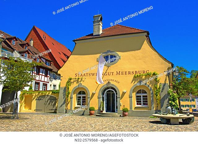 Meersburg, Lake Constance, Bodensee, Baden-Wuerttemberg, Germany, Europe