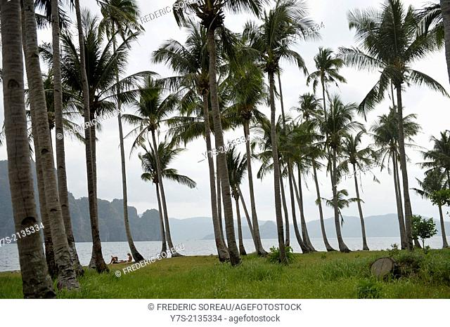 A beach at El Nido,Palawan island, Philippines,South East Asia