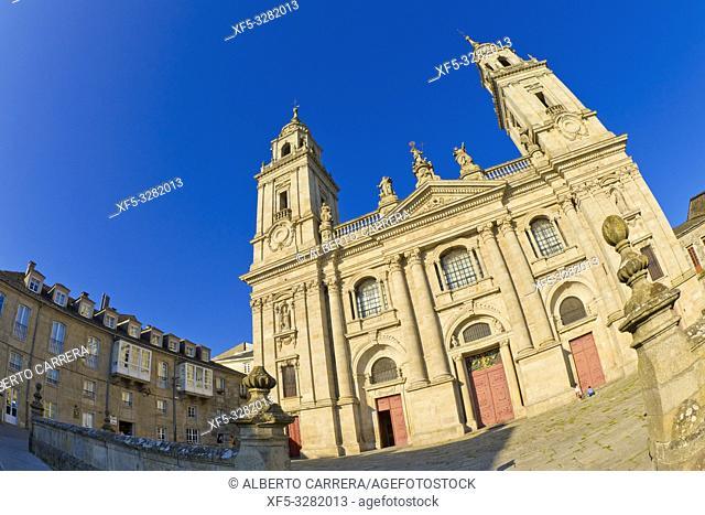 Saint Mary's Cathedral of Lugo, Catedral de Santa María de Lugo, 12th Century Romanesque Style, Spanish Property of Cultural Interest, Lugo City, Lugo, Galicia