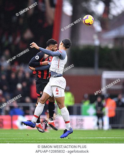 2018 EPL Premier League Football Bournemouth v Liverpool Dec 8th. 8th December 2018, Vitality Stadium, Bournemouth, England; EPL Premier League football