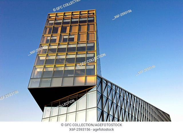 The JTI Building, headquarters of Japan Tobacco International, JTI, by SOM Architects, Geneva, Switzerland