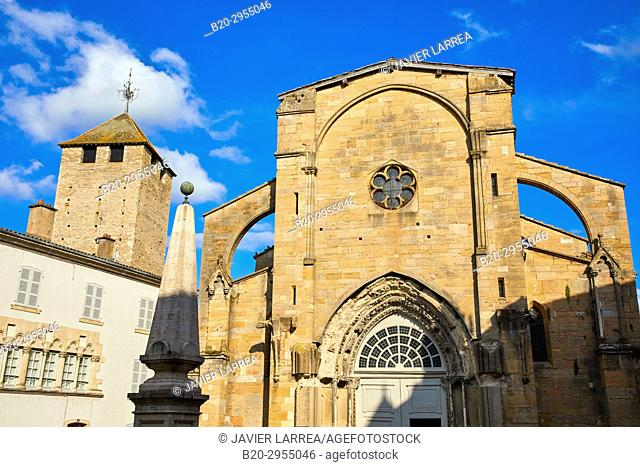 Notre Dame church and Tour des Fromages, Cluny, Saone-et-Loire Department, Burgundy Region, Maconnais Area, France, Europe