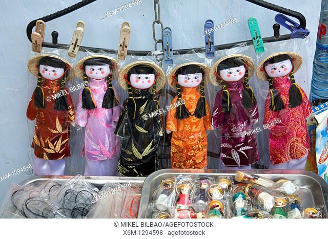 dolls detail  Hoi An, Vietnam, Asia