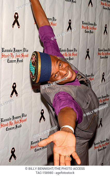 """Angelo Moore arrives at the 3rd Annual """"""""Bowl 4 Ronnie"""""""" Celebrity Bowling Tournament, benefiting the """"""""Ronnie James Dio Stand Up and Shout Cancer Fund fund""""""""..."""