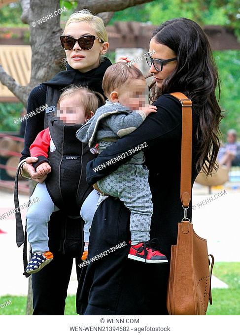 Jaime King and Jordana Brewster take their children to Coldwater Park in Beverly Hills for a playdate Featuring: Jaime King, Jordana Brewster Where: Los Angeles